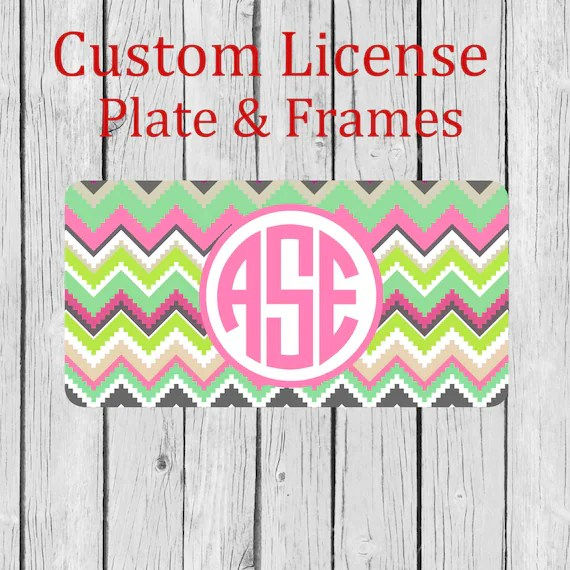 Monogram License Plate Personalized License Plate Lily