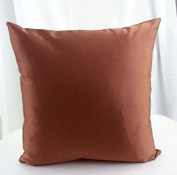 Brown Pillow Cover Solid Brown Pillows By Artsandcreations
