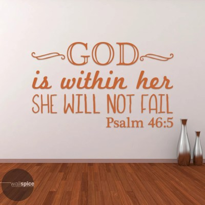 Psalm 46:5 God Is Within Her She Will Not Fail Vinyl Wall