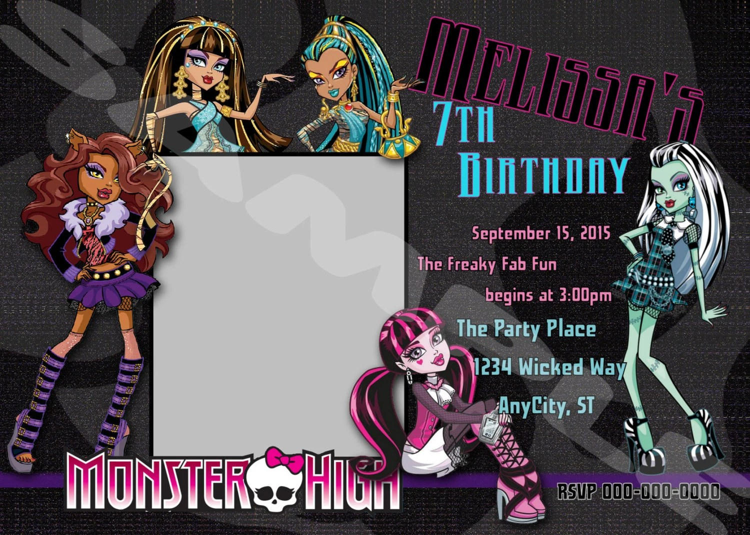 Monster High Invitation Monster High Birthday By