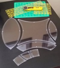 Double Wedding Ring Quilting Template Set 1/4 by ...