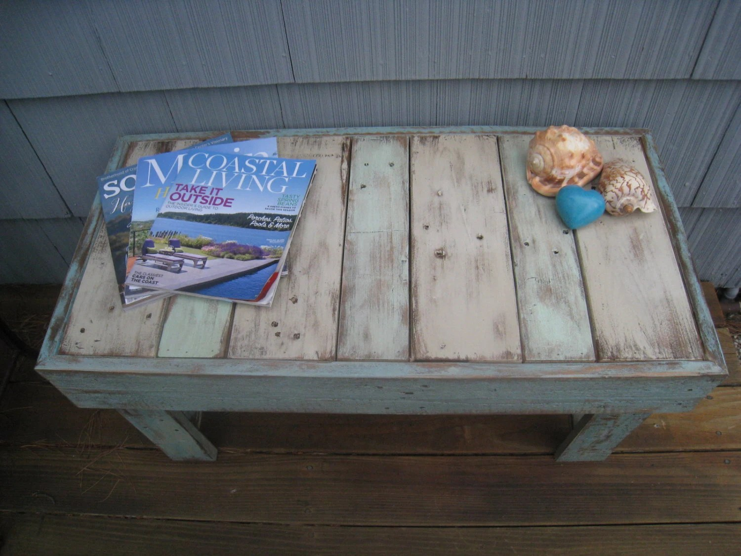 Rustic Beach Coffee Table Shabby Chic Pallet Bench Beach Coffee Table Rustic Table