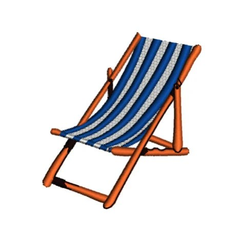 Instant Download Beach Chair Machine Embroidery By Tracenlines