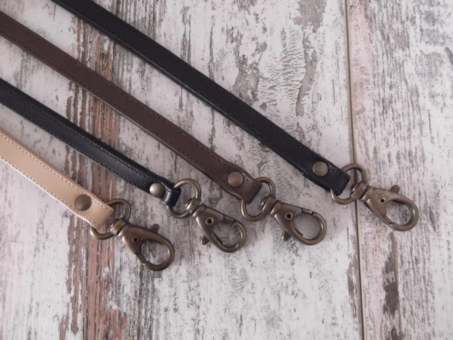 Leather Lanyard Leather Neck Strap Keychain Key Holder