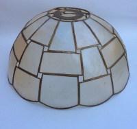 Vintage capiz shell light lamp shade 1960s 1980s light