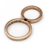 14k rose gold wedding ring set Promise ring Wedding ring for