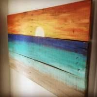 Beach House Decor Sunset painting
