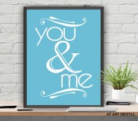 You And Me Printable Wall Art Love Print Digital by ...