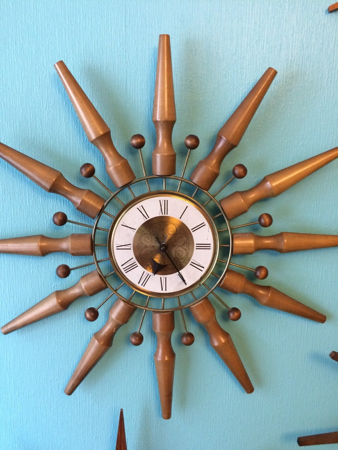 Atomic Wall Clocks Made In Usa Vintage Seth Thomas Starburst Clock Atomic Wall Clock Marked