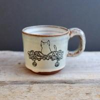 Cat & Tangled Wool Espresso Cup