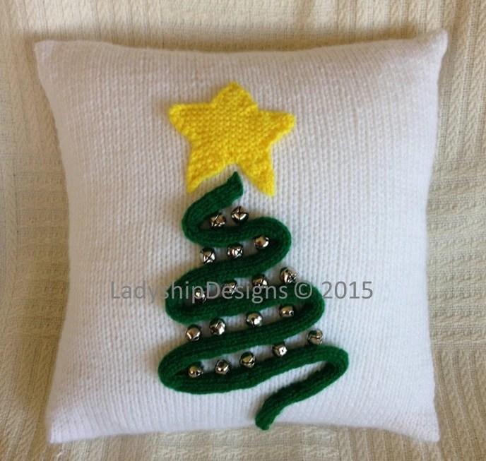 Christmas Knitting Pattern Christmas Pillow Knitting