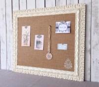 Large cork board shabby chic bulletin board by ...