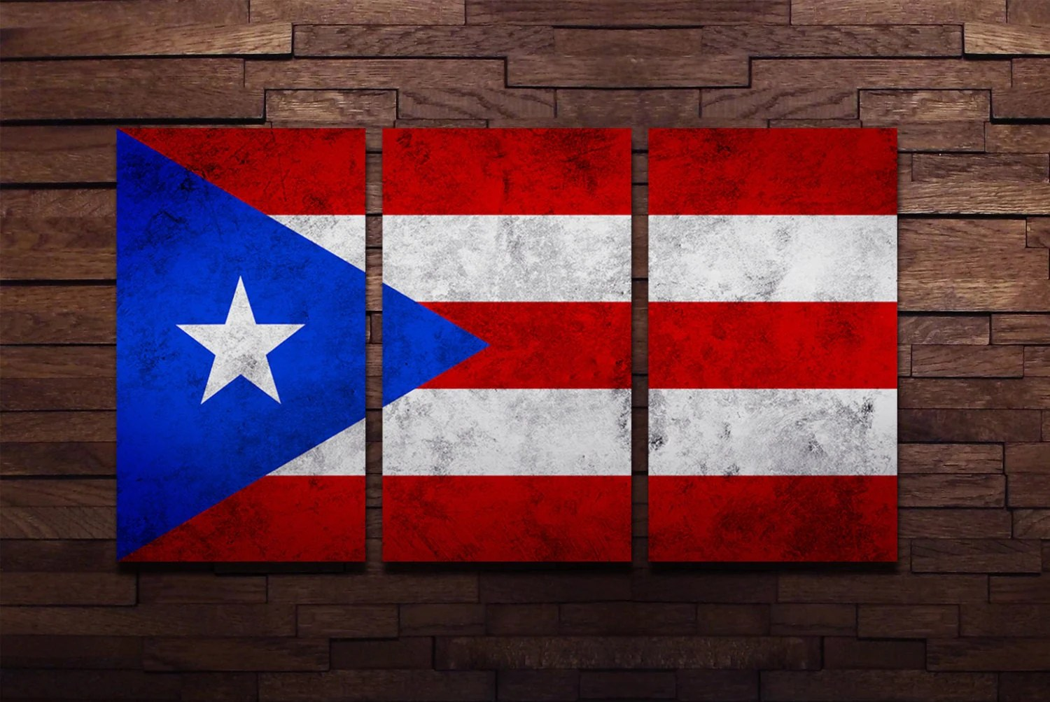 Puerto Rican Flag Poster Wall Art