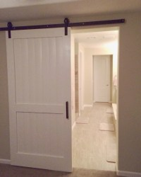 Items similar to Custom White Sliding Barn Door *Local ...