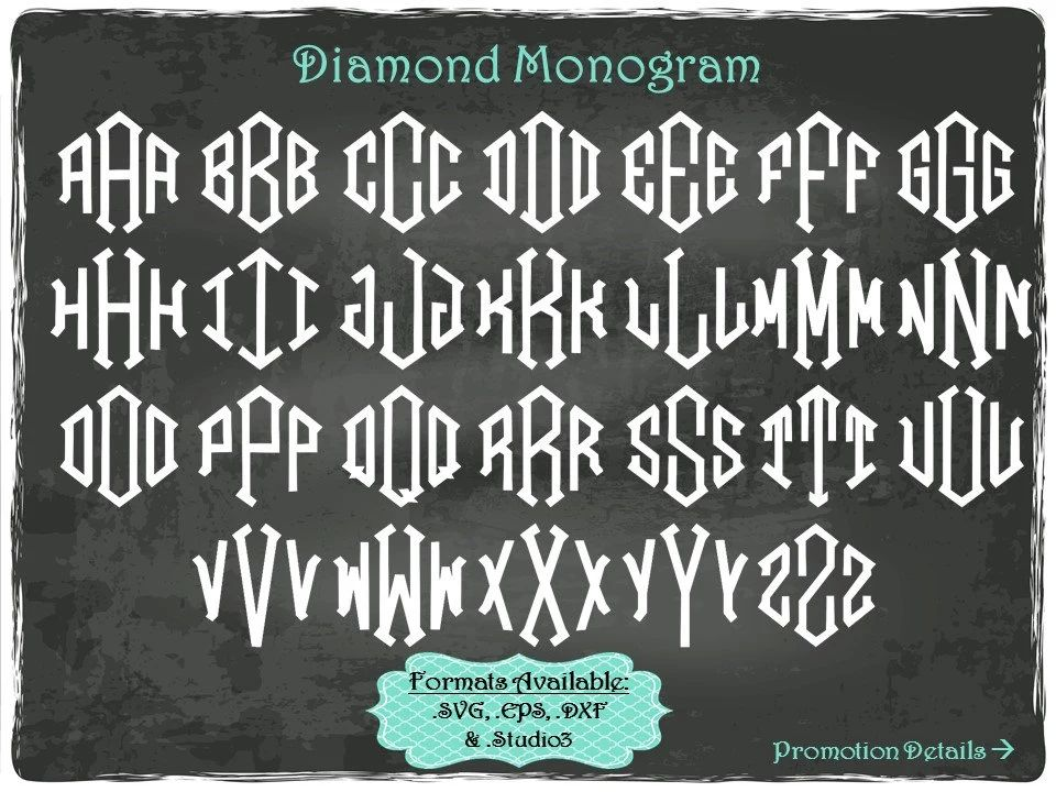 free diamond monogram font
