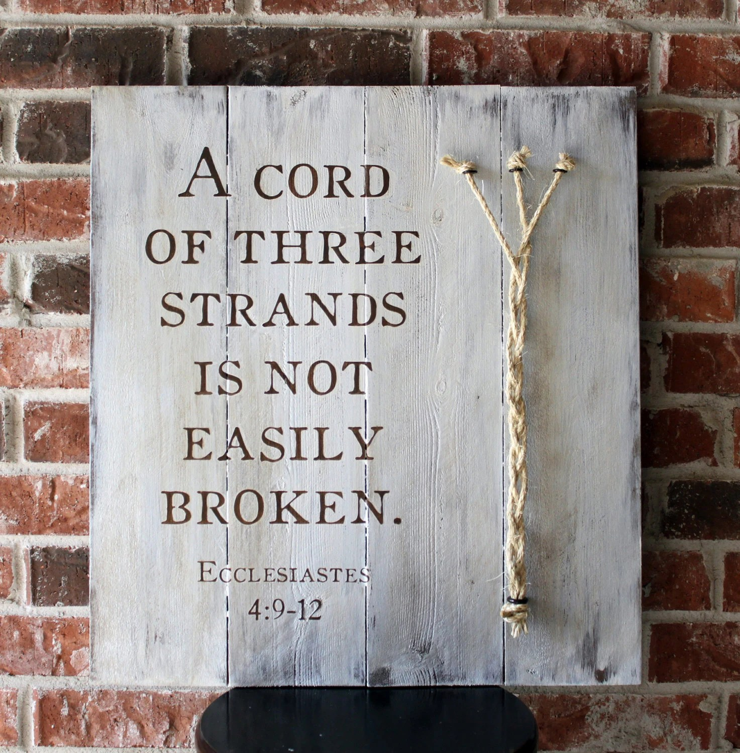 Bf Gf Quotes Wallpaper Handmade A Cord Of Three Strands Is Not Easily Broken By