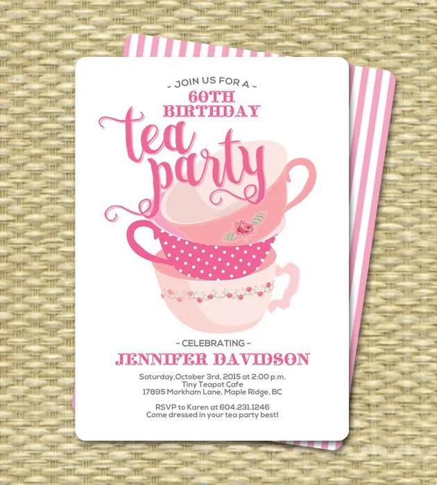 Birthday Tea Party Invitations Birthday Tea Party Invitation - tea party invitation