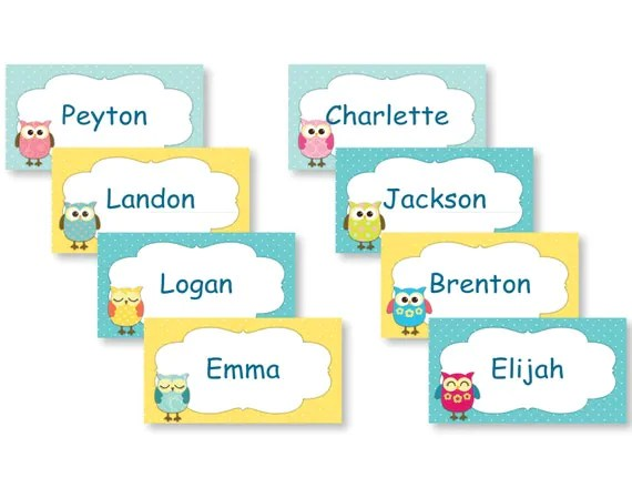 Free Printable Name Tags For Preschool Cubbies Kids Template