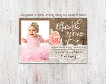 1st Birthday And Baptism Invitation Diy By