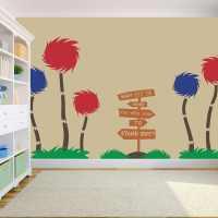 Truffula Trees Dr. Seuss Vinyl Wall Decal by StolzDesignOnEtsy