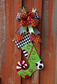 Stocking door hanger christmas door hanger christmas door