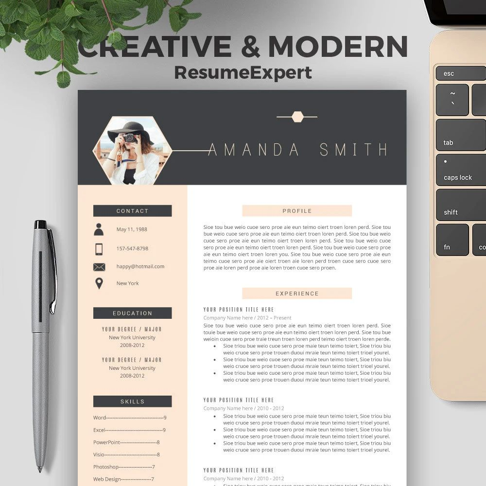 innovative cv templates word