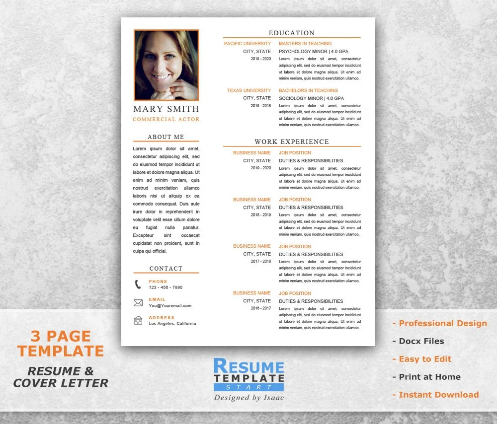 Acting Resume Template Templates Word Actor Download Doc Beginner - actor resume template word