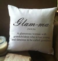 glam-ma glamma glamorous grandma throw pillow cover
