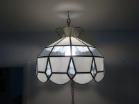 Vintage Parlor Style Stained Glass Hanging Swag Lamp ...