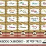 Recipe Book Binder Categories Kit Printable Cookbook