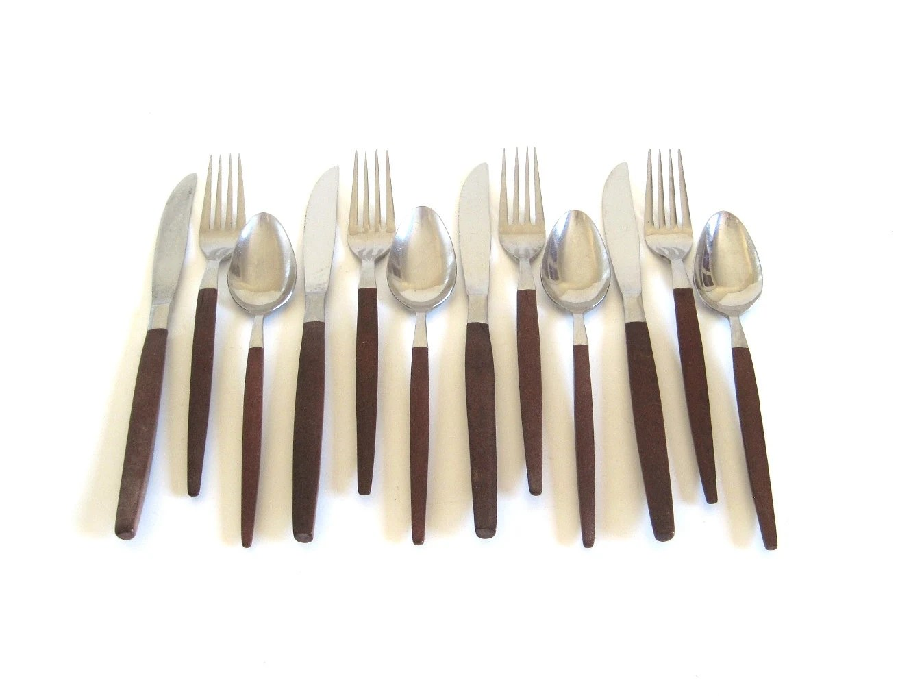 Contemporary Stainless Steel Flatware Danish Modern Stainless Flatware Service For 4 By
