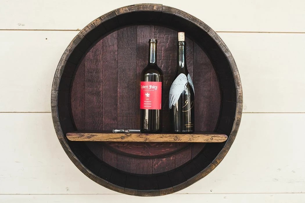 Wine Barrel Shelf