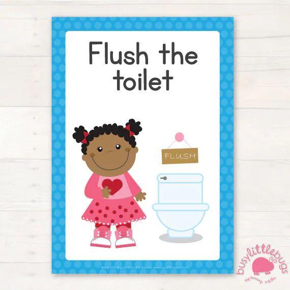 Bathroom hygiene signs automatic download