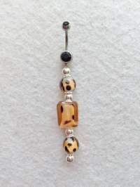 Belly Button Ring Navel Ring Animal Print Beads Cheetah