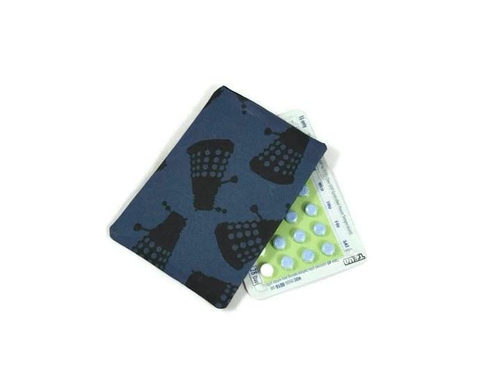 Birth Control Case Dalek Pill Case Pill Holder Police Box