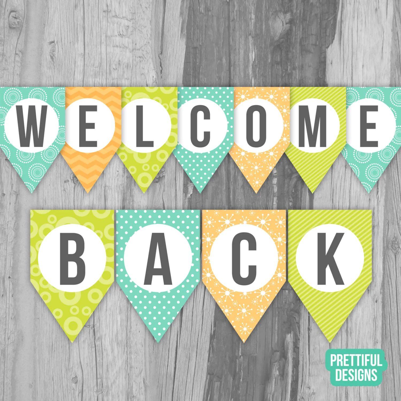 welcome back banner printable