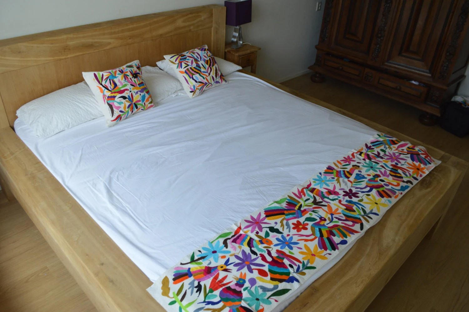 Arte De Mexico Beds 100 Organic Otomi Bed Runner Mexican Bedding Mexican Bed