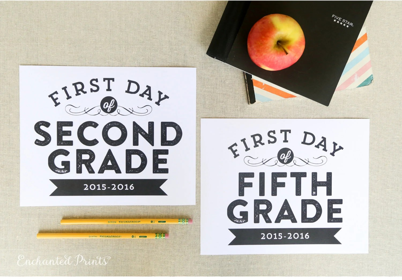 First Day of School Editable Printable Signs - Preschool through
