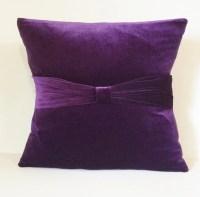 Plum Velvet Sofa Throw Pillow Cover Pillow Case Slipcover