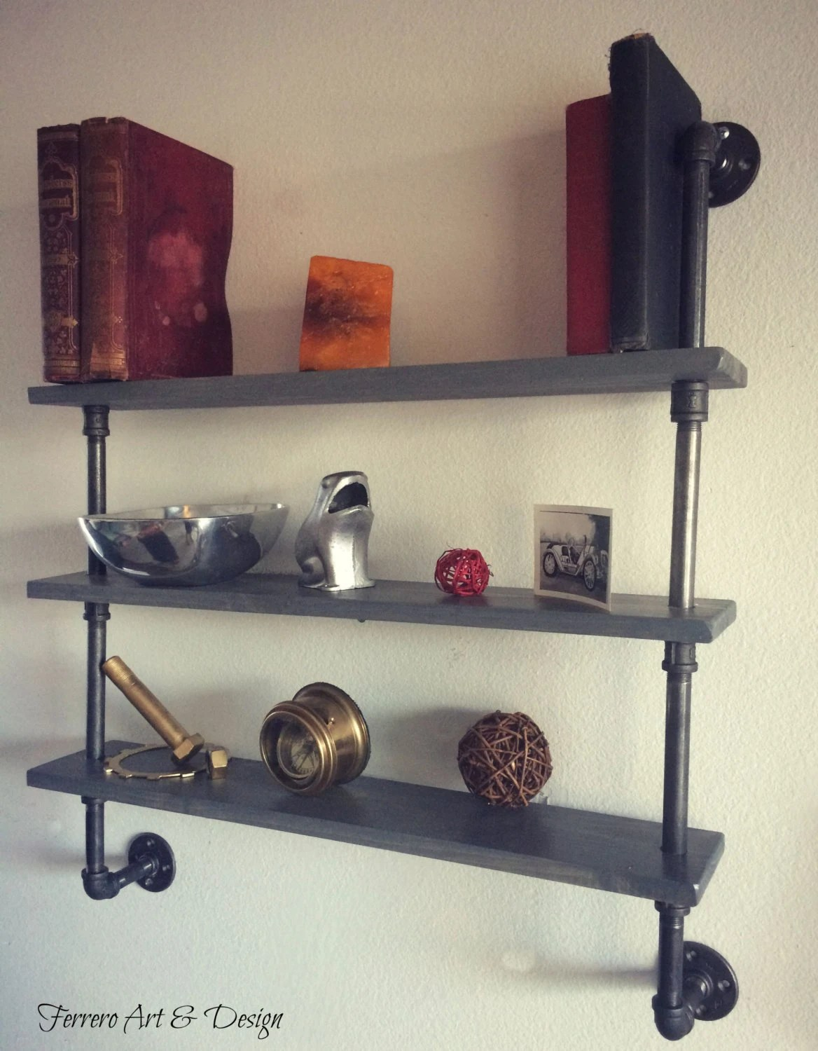 Steampunk Wall Shelves Steampunk Shelves Shelving Shelf Pipe Shelf By