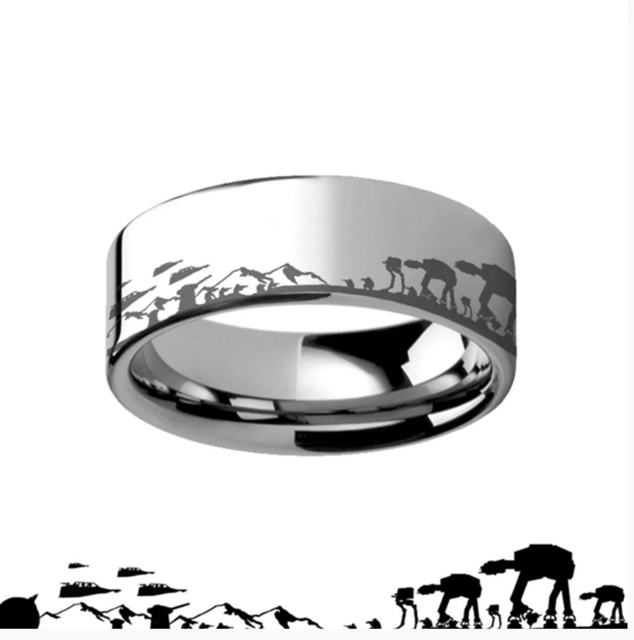 star wars wedding ring star wars wedding bands Star wars wedding ring Wedding Ring Star Wars