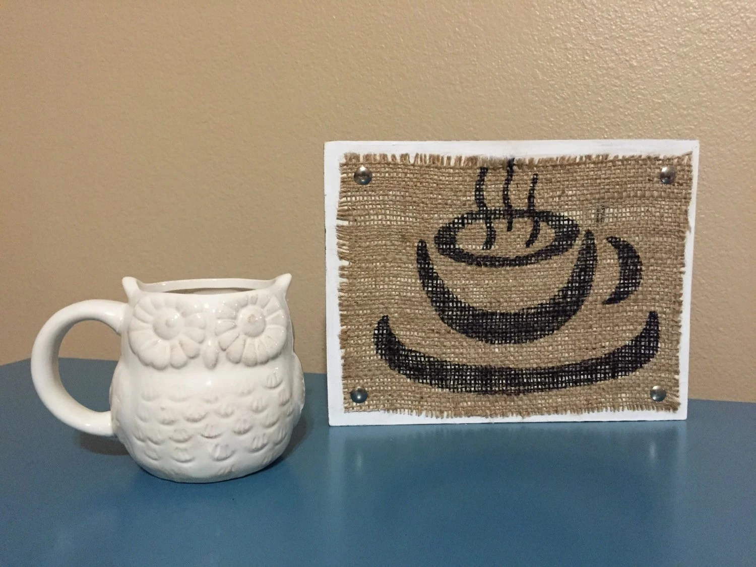 Coffee Art Etsy Coffee Sign Coffee Decor Coffee Burlap Wood Sign Kitchen