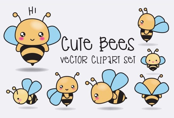 Cute Chicken Nugget Wallpaper Premium Vector Clipart Kawaii Bees Cute Bees Clipart Set