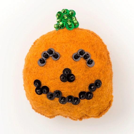 DIY Halloween Decorations Felt Ornament Pattern Halloween