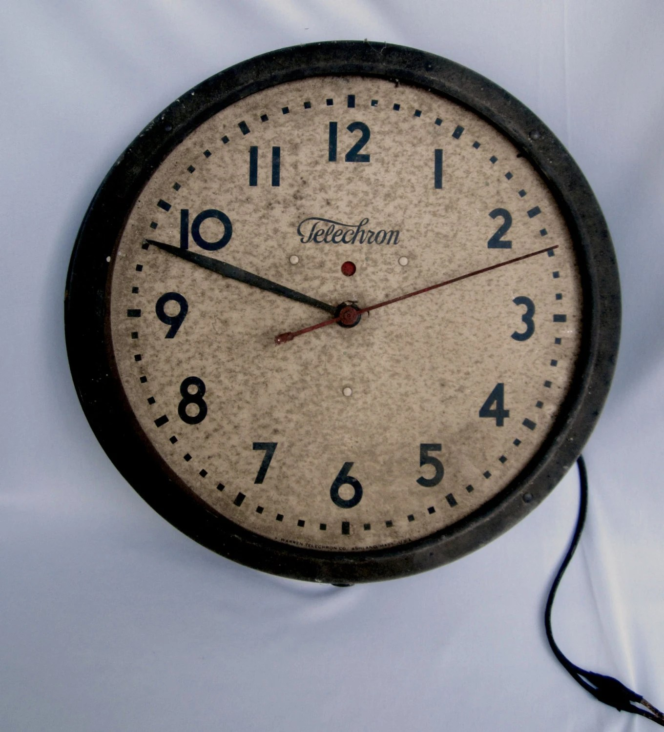 Atomic Wall Clocks Made In Usa On Reserve For Amanda Telechron Wall Clock Warren Telelchron