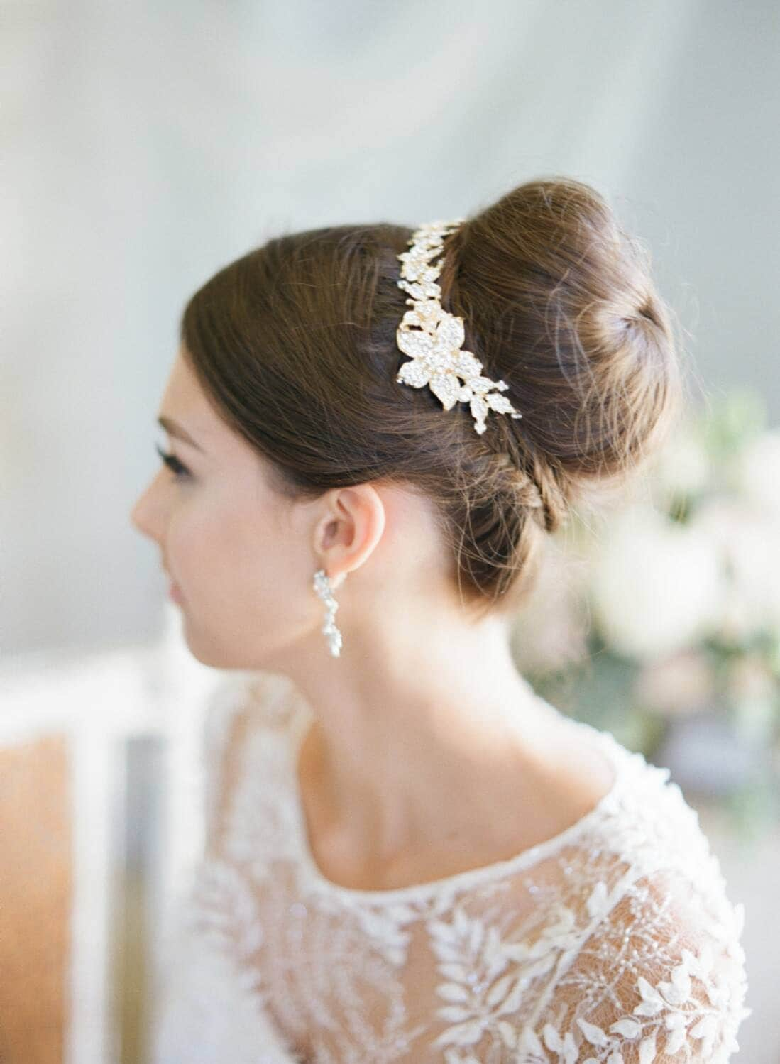 New Hair Vine Swarovski Bun Wrap Bridal Hair Vine Crystal Wedding Hair