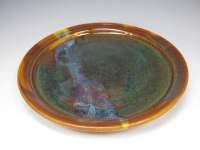 Handmade stoneware dinner plate