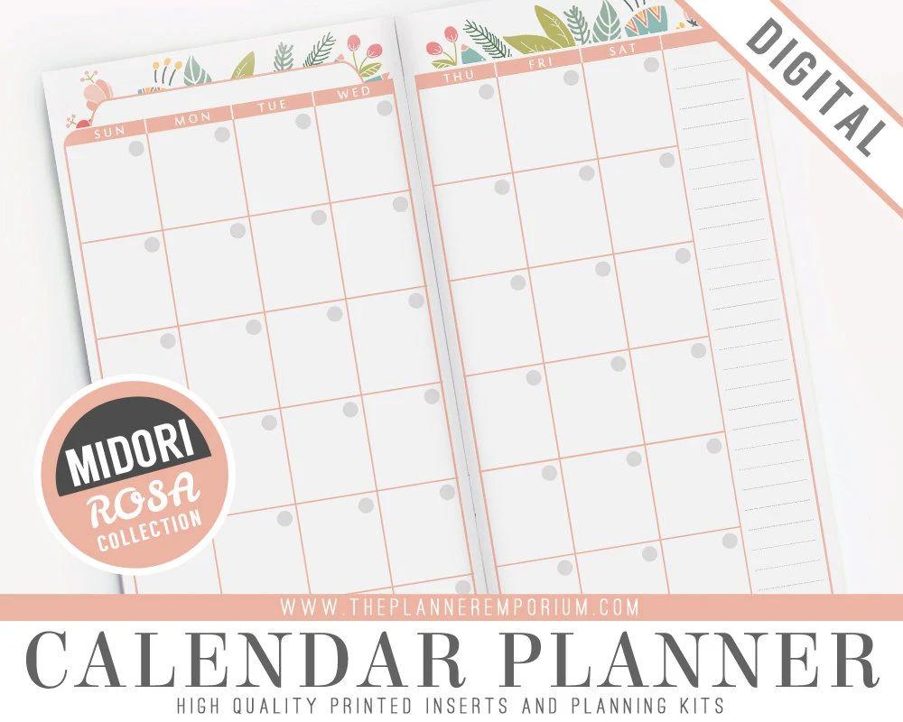 printable calendar with notes