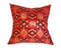 Tribal Pillows Red Throw Pillow Wax Print Pillow Covers