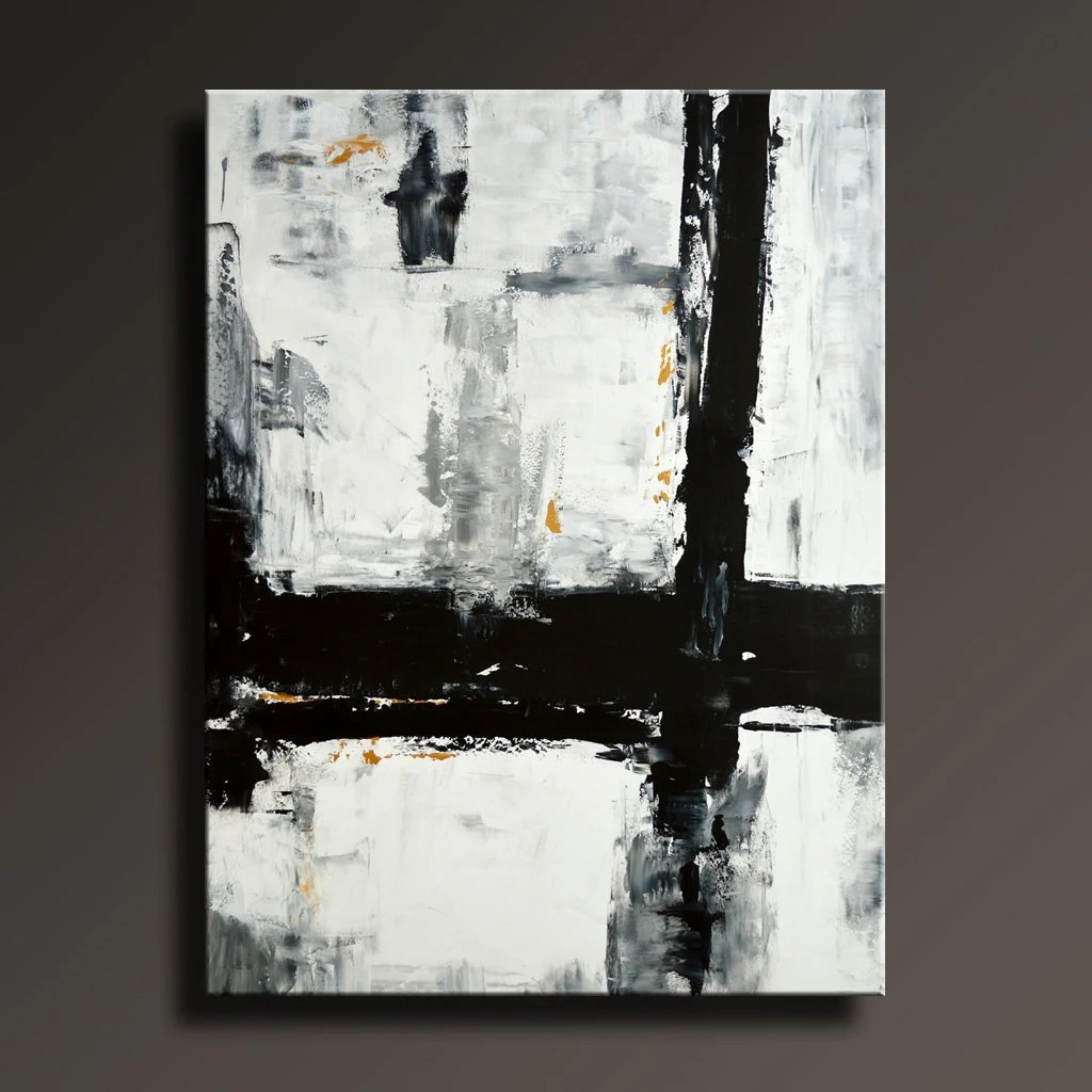 Black White And Gray Paintings 54 Large Original Abstract Painting Black White Gray By Itarts
